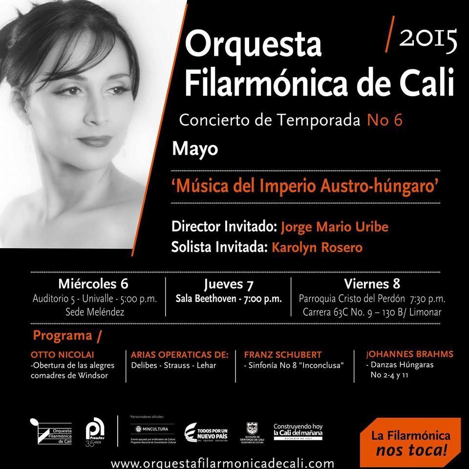 Karolyn Rosero, Becaria de la FC con la Orquesta Filarmónica